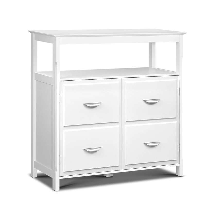 Kitchen Storage Buffet With Shelves White Buy Sideboards
