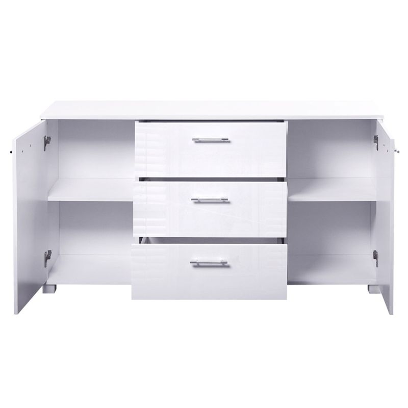 Artiss High Gloss Sideboard Storage Cabinet Cupboard White Buy Sideboards& Buffets 50891