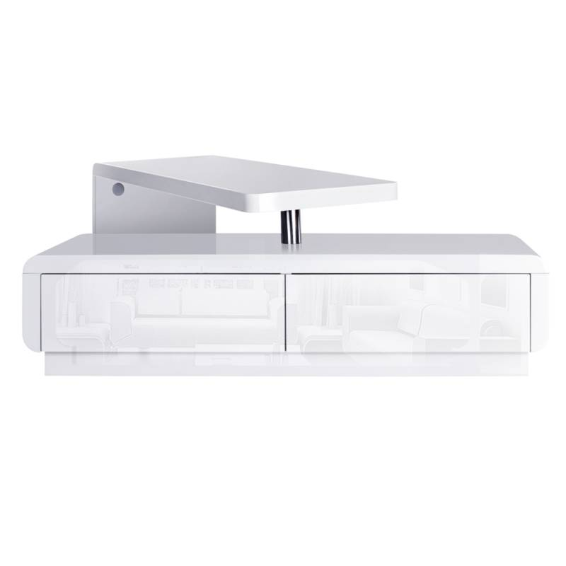 White Adjustable Modern TV Stand Entertainment Unit Buy