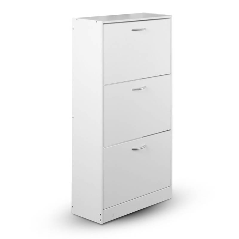 3 Shelves Shoe Rack Storage Cabinet in White Buy Shoe  : FURNI SHOE 3D WH 00 from www.mydeal.com.au size 800 x 800 jpeg 19kB