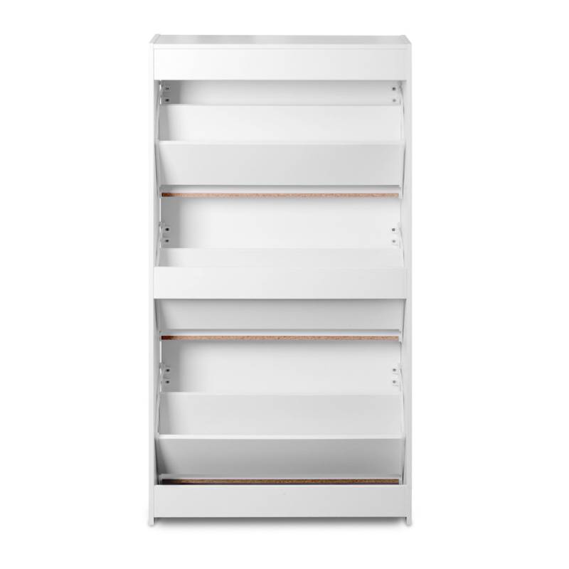 3 Shelves Shoe Rack Storage Cabinet In White Buy Shoe