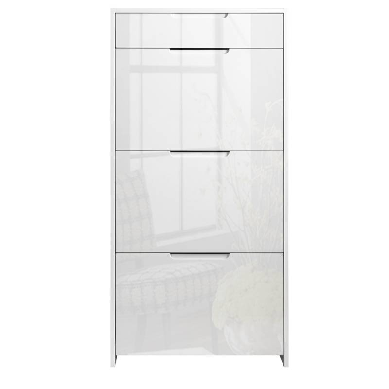 Shoe Cabinet Storage Rack In High Gloss White Buy Shoe