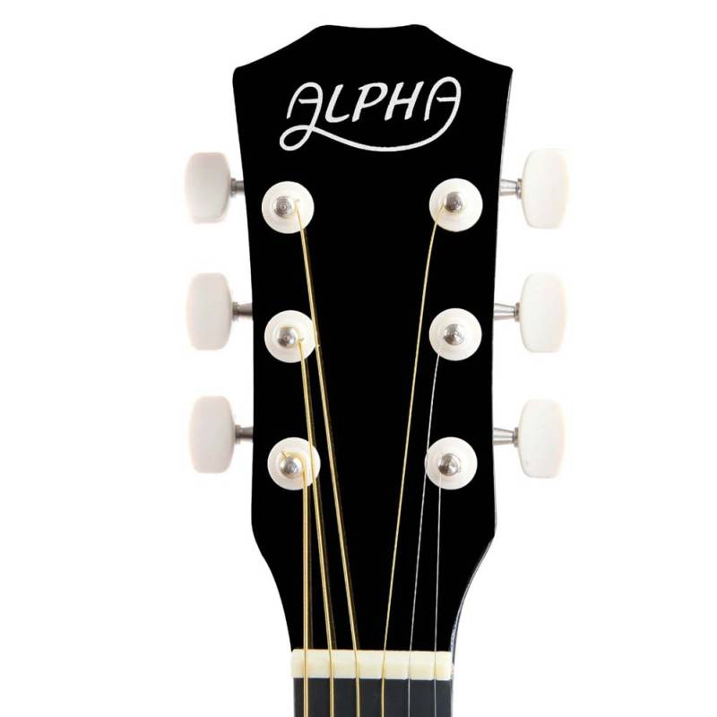 Wooden Acoustic Guitar W Bag Amp Strap In Black 38in Buy