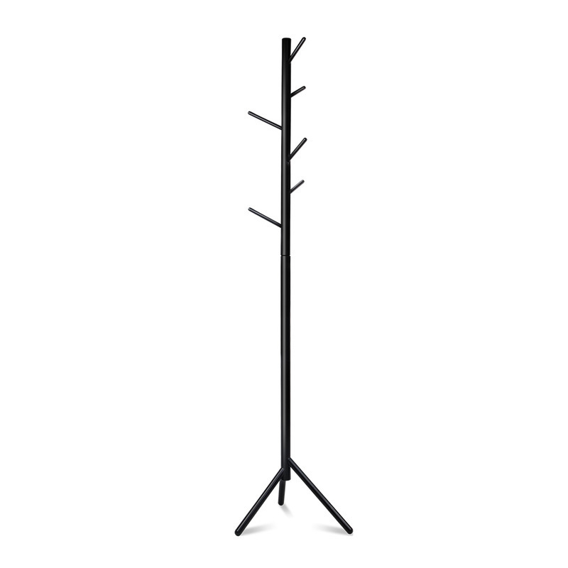 coat hanger stand artiss wooden clothes stand with 6 hooks black buy 29353