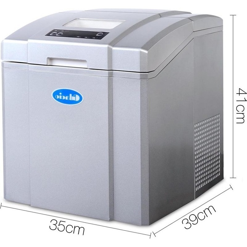 Portable 3 Size Cube Ice Maker in Silver 3.2L 20kg | Buy ...