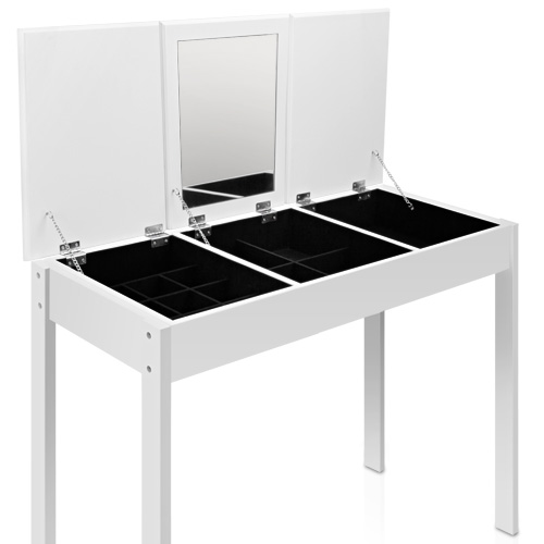 Mirror Jewellery Dressing Table 3 Drawers In White Buy