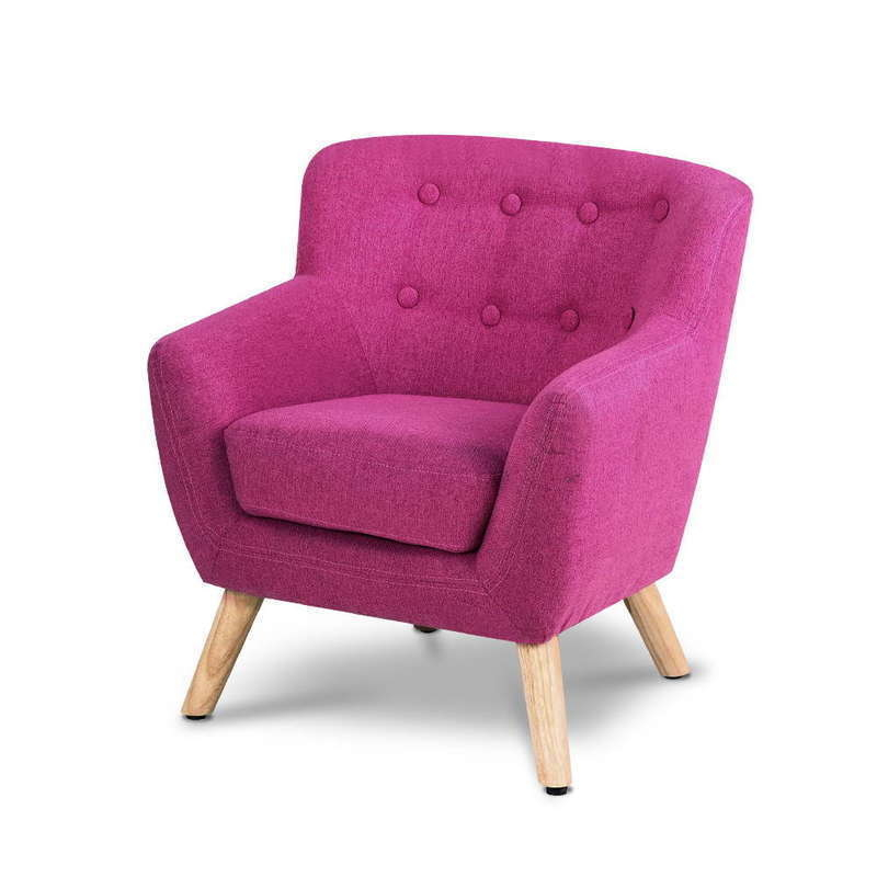 Great Kids Fabric Armchair In Pink