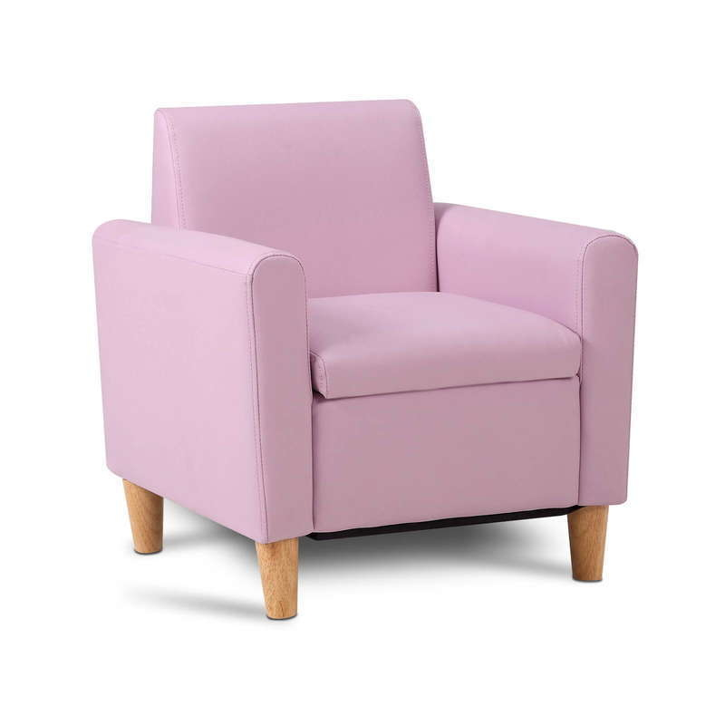 Kids Pu Leather Chair Single Pink Buy Kids Sofas