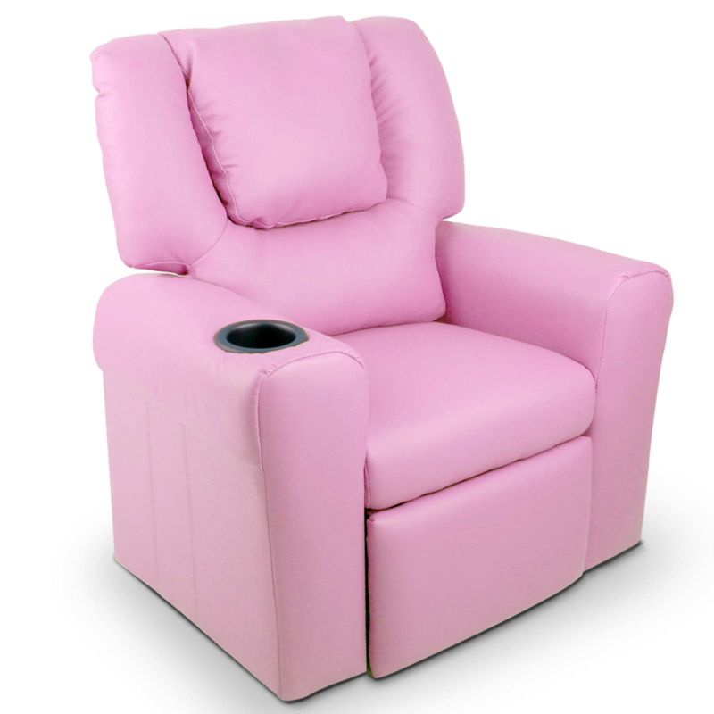 Kids PU Leather Recliner Chair w Cup Holder Pink  sc 1 st  MyDeal : childrens recliner chairs - islam-shia.org