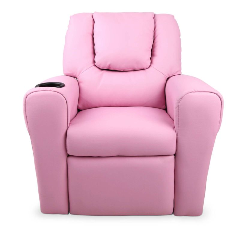 Kids PU Leather Recliner Chair w Cup Holder Pink  sc 1 st  MyDeal & Kids PU Leather Recliner Chair w Cup Holder Pink | Buy Kids ... islam-shia.org
