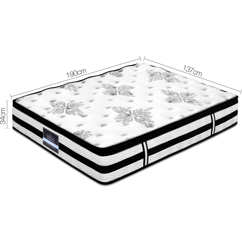 Giselle Double Size Fabric Euro Top Mattress 34cm | Buy ...