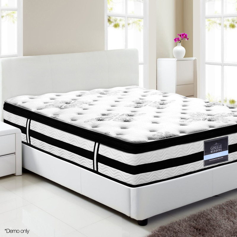 Giselle king single fabric euro top mattress 34cm buy for European beds for sale