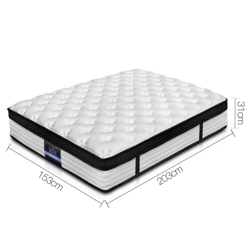 Giselle Queen Size Euro Top Pocket Spring Mattress Buy Queen Mattress