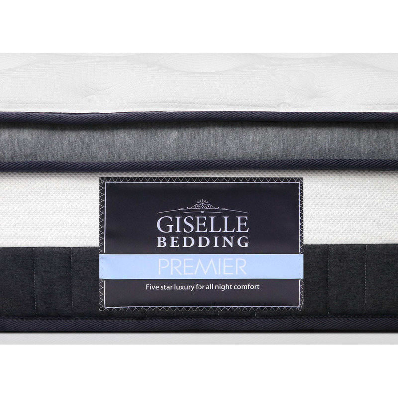 Giselle Queen Size Euro Top Mattress In White Buy Queen