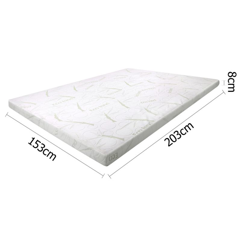Cool Gel Memory Foam Mattress Topper Queen 8cm Buy Queen Mattress Toppers