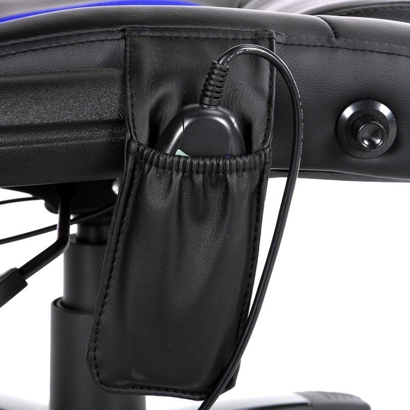 pu leather massage office chair in black and blue buy furniture