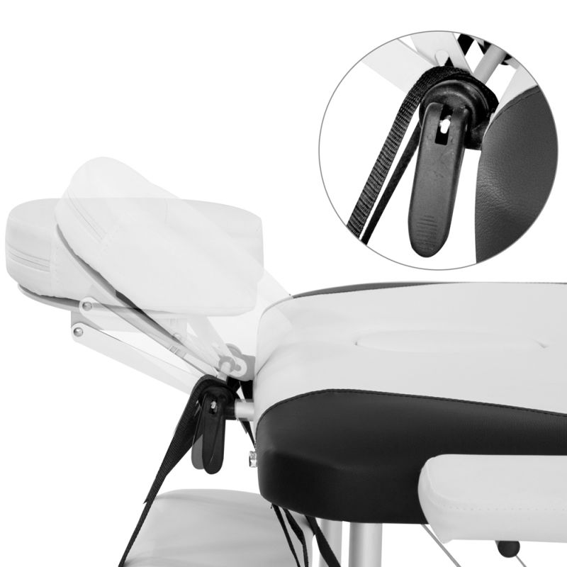 Portable fold massage table black white 75cm buy massage for Mobile beauty therapist table