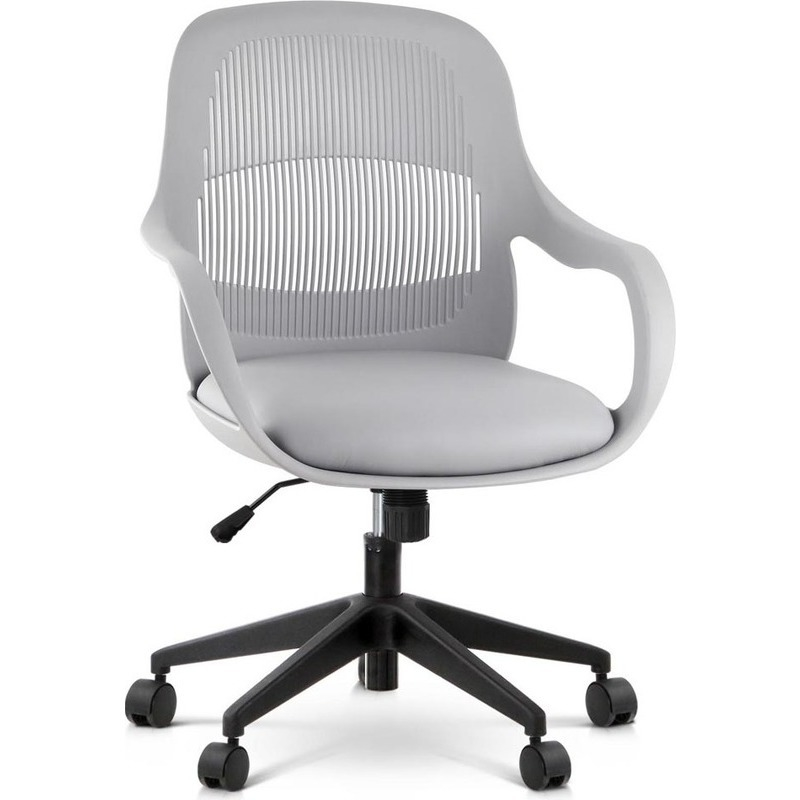 contemporary faux leather office chair in grey buy