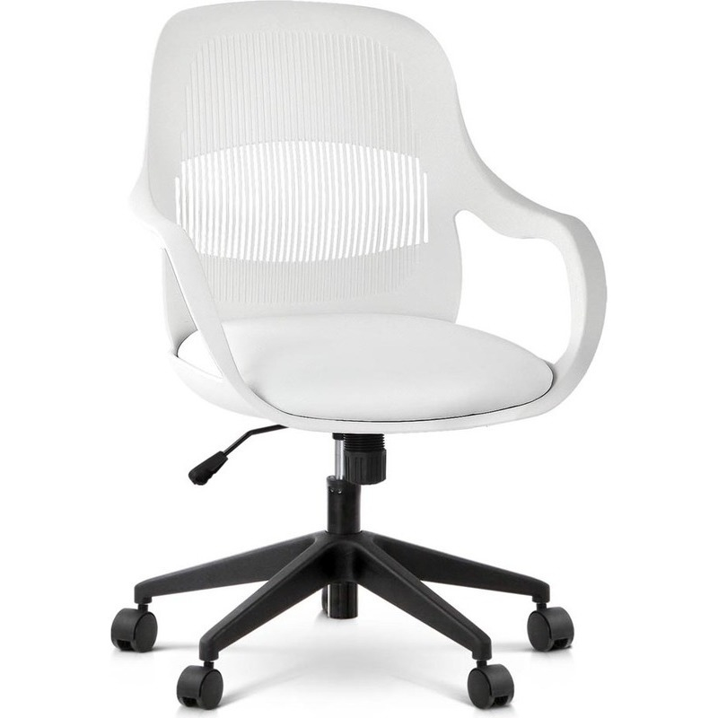 contemporary faux leather office chair in white buy