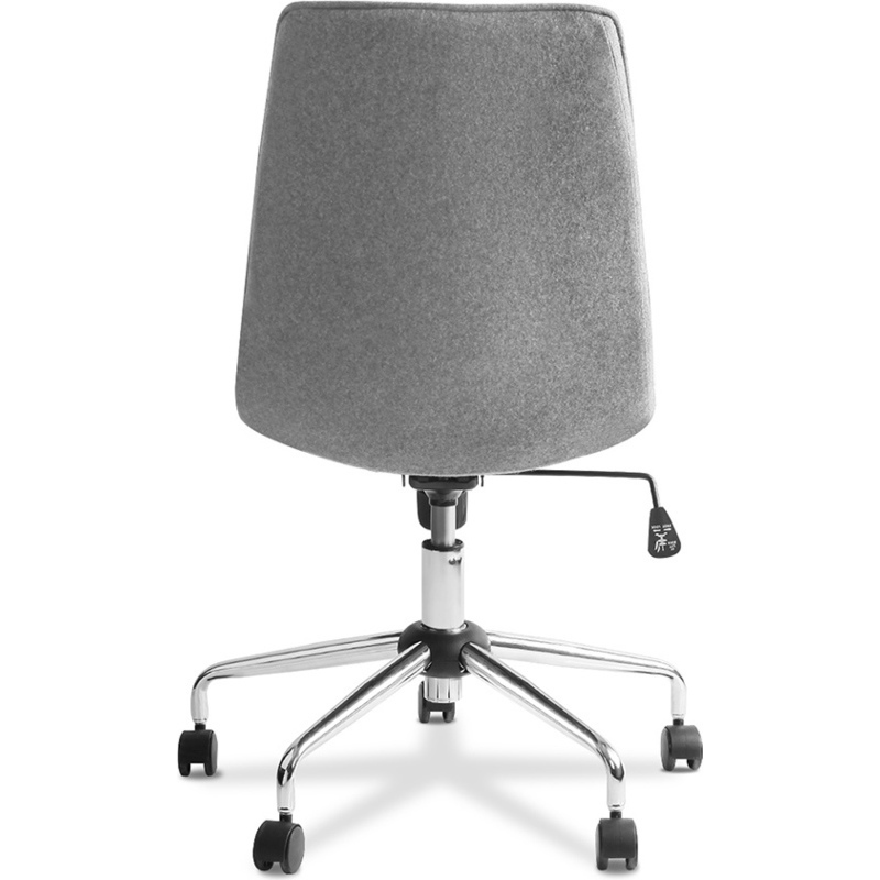 360 Swivel Fabric Uphostered Office Chair In Grey Buy Boardroom Chairs