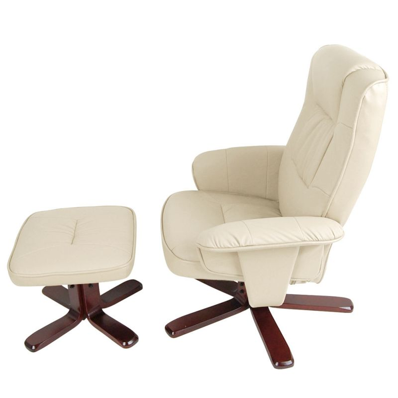 recliner chairs pu leather swivel recliner lounge chair and ottoman