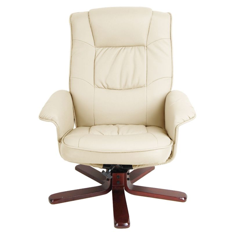 Pu Leather Swivel Recliner Lounge Chair And Ottoman Buy