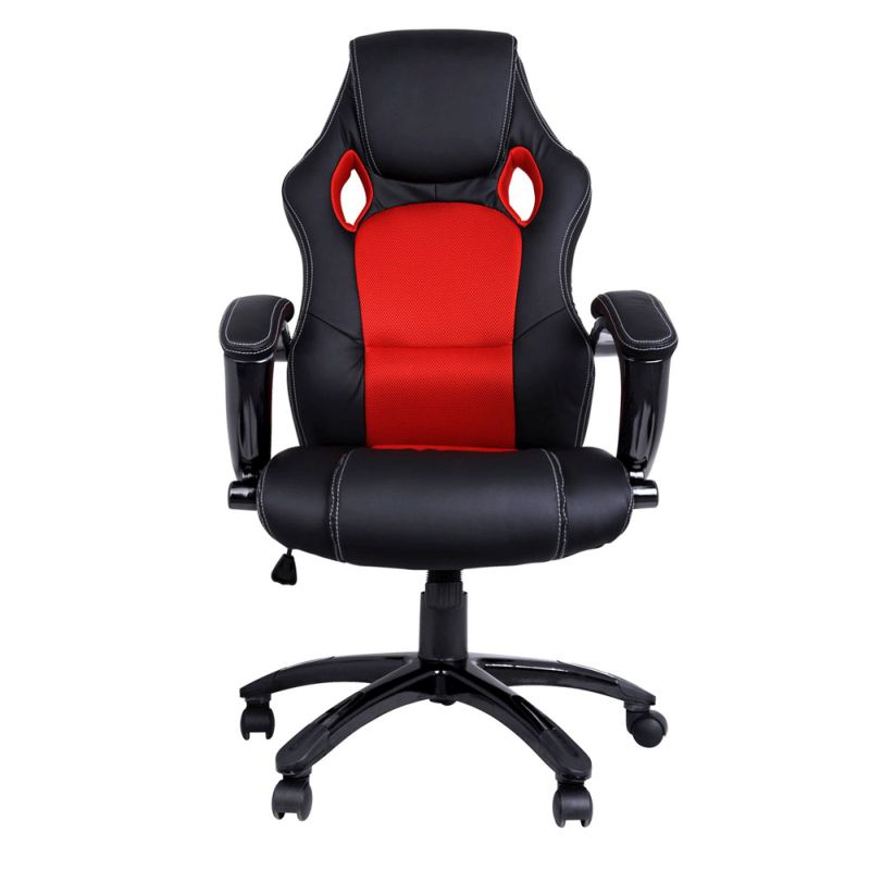 PU Leather Racing Style Office Chair In Black Red Buy Fortnightly Sale