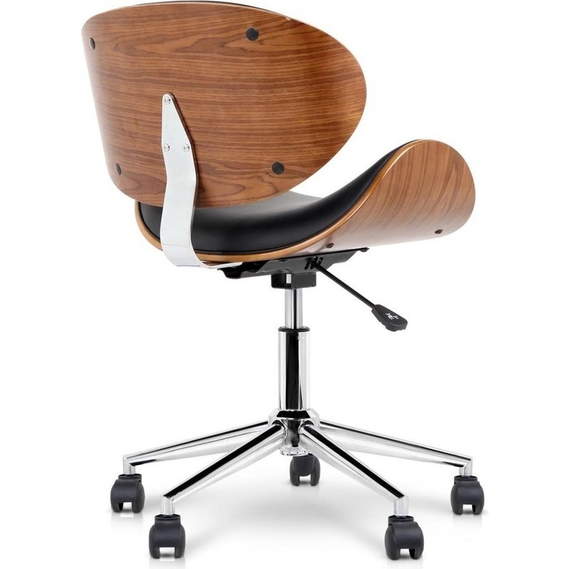 wooden pu leather office desk chair black buy office chairs 189668. Black Bedroom Furniture Sets. Home Design Ideas