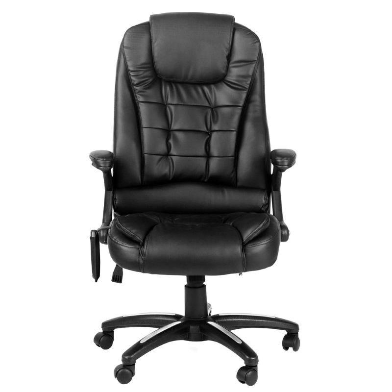 pu leather 8 point massage office chair in black buy furniture