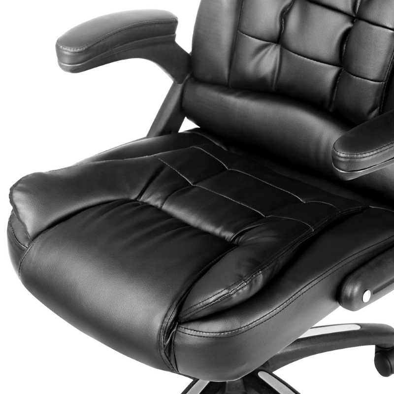 pu leather 8 point massage office chair in black buy massage office