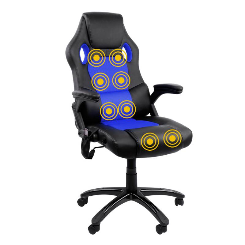 racing pu leather massage office chair black blue buy
