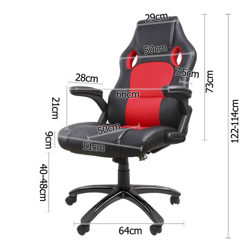 Racing Style Massage Office Desk Chair Black Red
