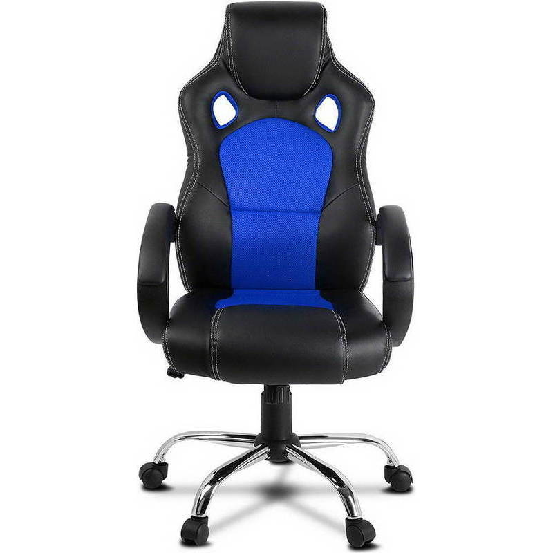 Pu Leather Amp Mesh Racing Office Chair In Black Blue Buy