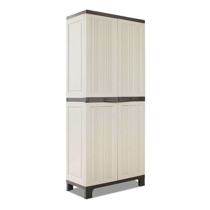 plastic storage cabinet. Perfect Plastic Outdoor Plastic Storage Cabinet Stripe Design 173cm Throughout L