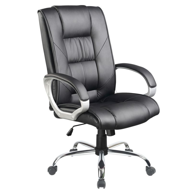 furniture office chairs executive chairs executive pu leather chrome