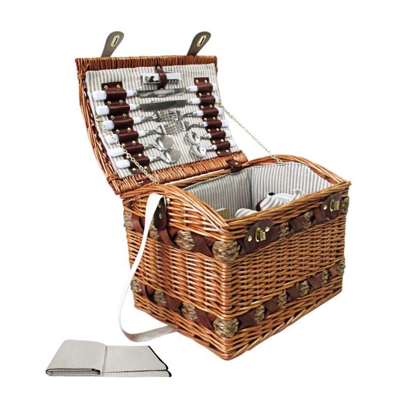 Aldi Picnic Basket Australia : Picnic basket set for w cheese board blanket buy