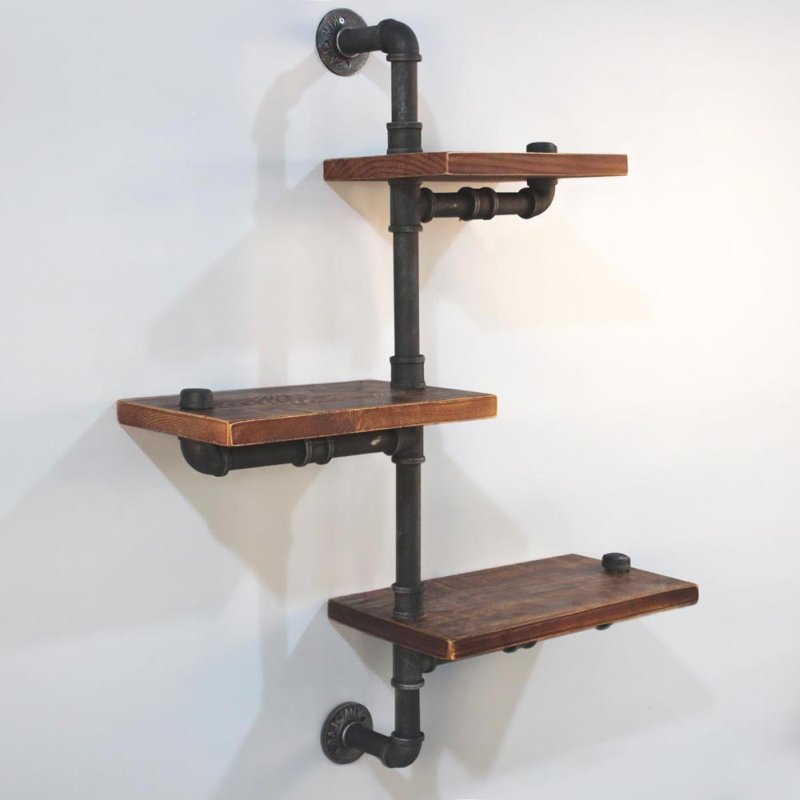 Alternate Level Rustic Industrial Pipe Wall Shelves Buy