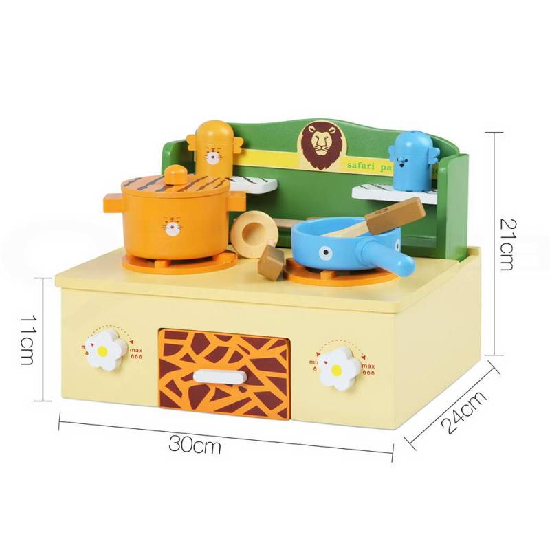 Best Cooking Toys : Kid s wooden mini pretend stove top in safari theme buy