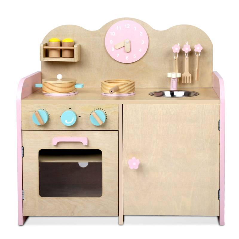 childrens wooden kitchen accessories wooden kitchen w 7 accessories in pink buy 5392