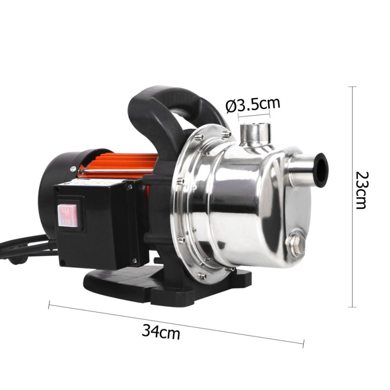 Stainless steel garden water pump 54l min 800w buy for Garden water pump