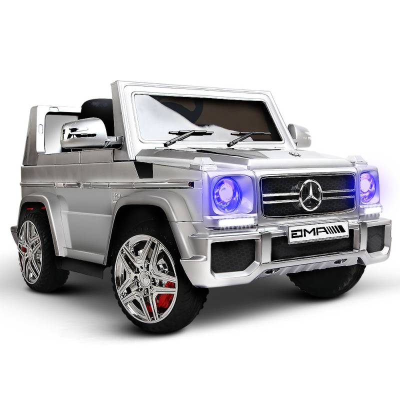 Licensed mercedes kids ride on car in silver 12v buy for Ride on mercedes benz toy car