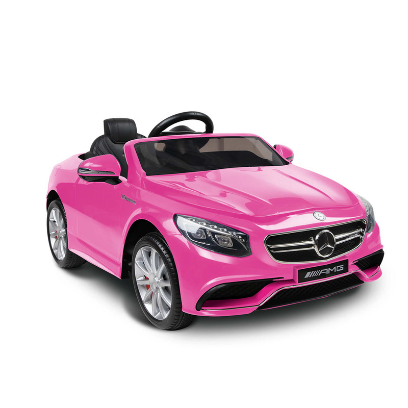 Kids licensed electric ride on mercedes benz pink buy for Mercedes benz toddler car