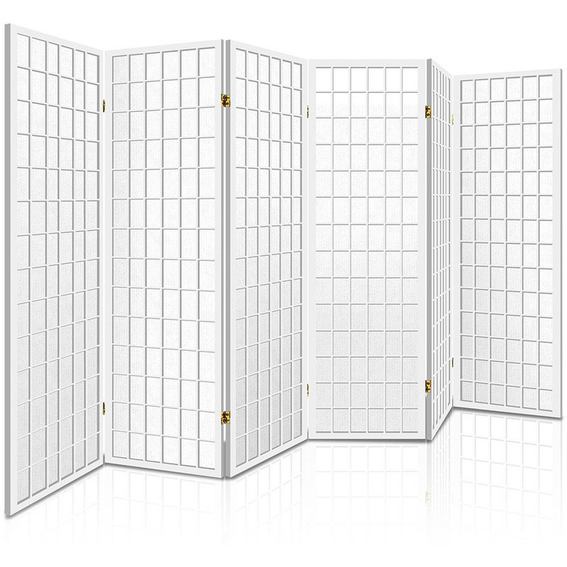 6 Panel Decorative Screen Room Divider in White Buy Room Dividers
