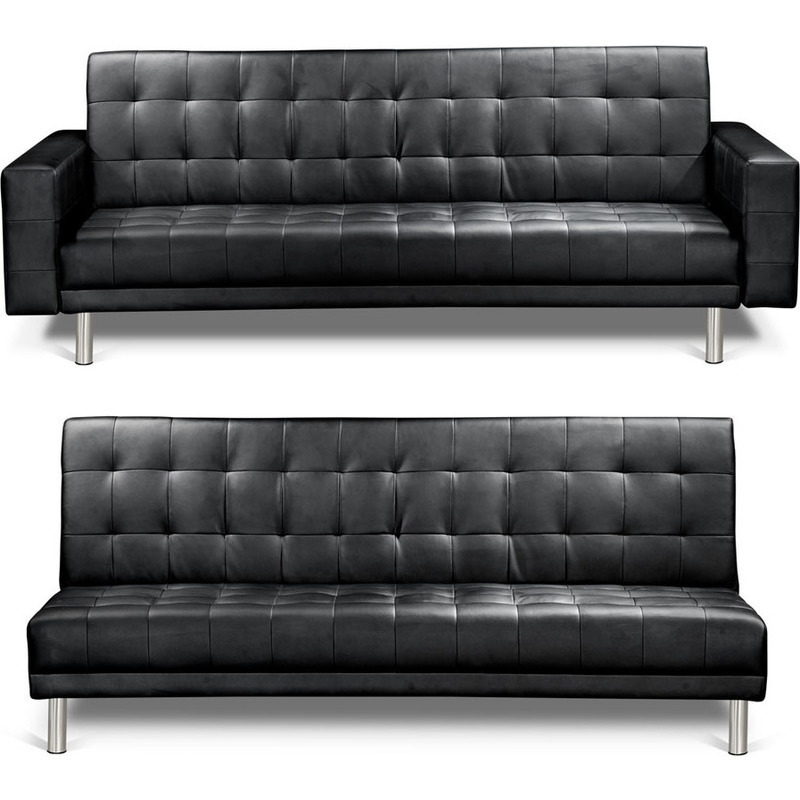 Artiss PU Leather Modular Couch - Black