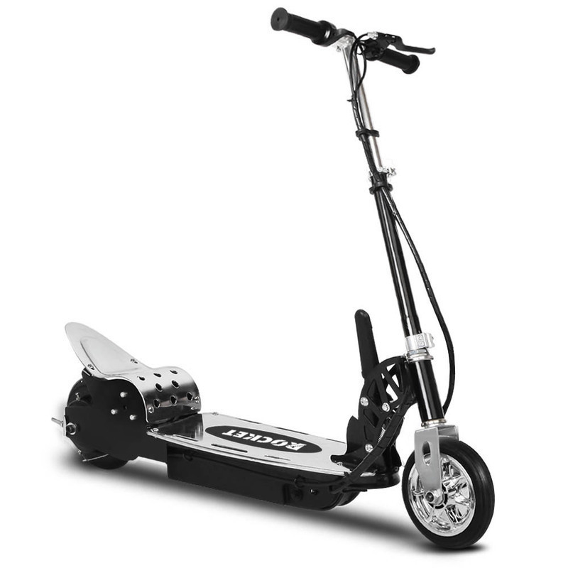 aluminium steel electric scooter in black buy electric. Black Bedroom Furniture Sets. Home Design Ideas