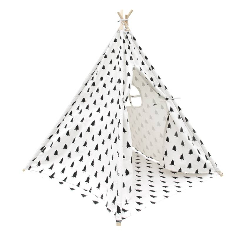 h m s Remaining  sc 1 st  MyDeal & Kids 4 Pole Teepee Play Tent w/ Bag Black u0026 White | Buy Teepees
