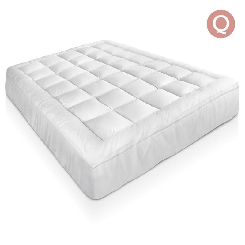 Queen Bamboo Pillow Top Mattress Topper Pad 5cm