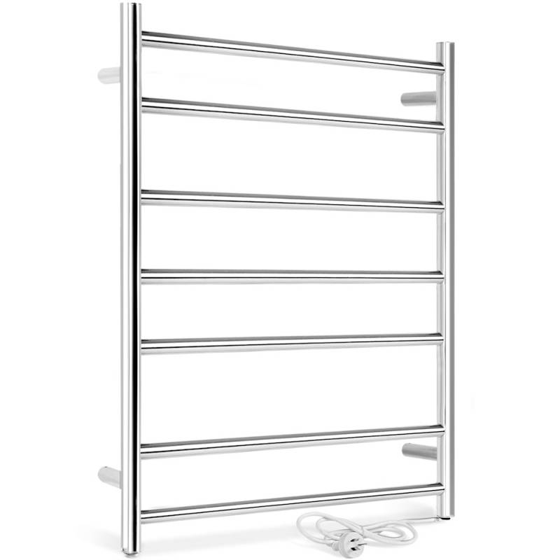 Electric wall mounted heated towel rail rack 97w buy heated towel racks 12636 for Electric heated towel rails for bathrooms