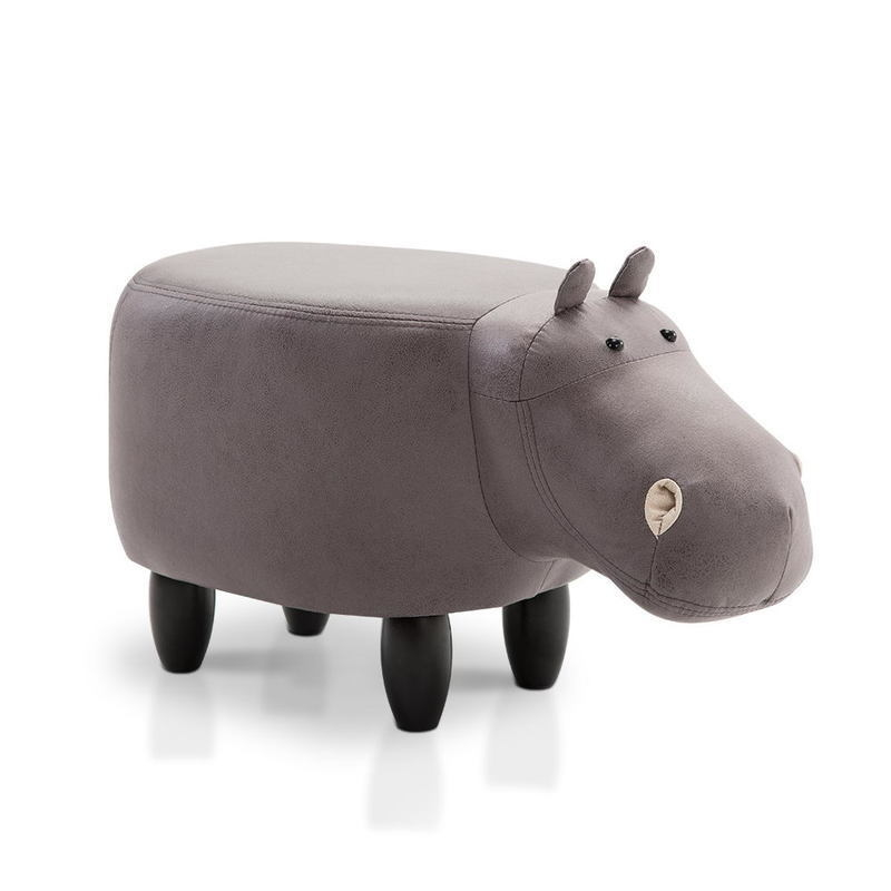 Kids Hippo Animal Stool In Grey Buy Kids Sofas