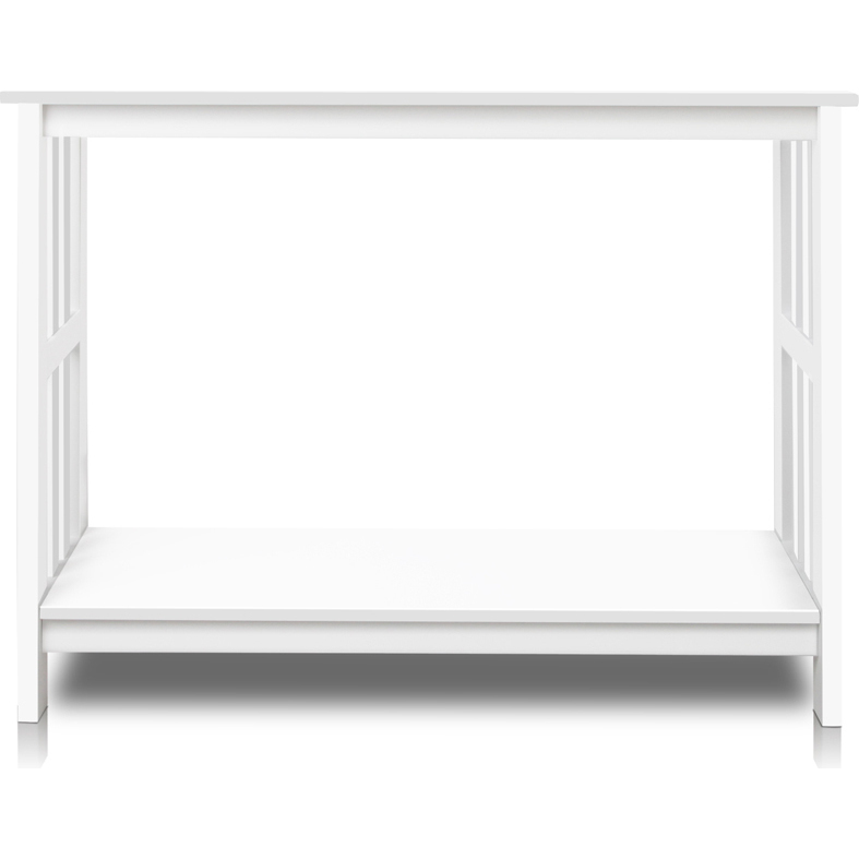 Mdf pine wood contemporary console table in white buy for White contemporary console table
